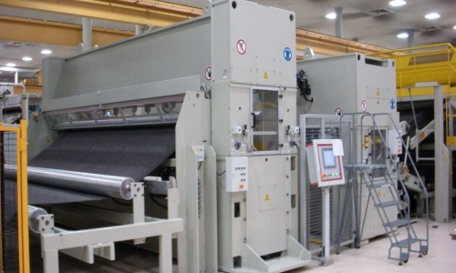 needlepunch machines inspected in production