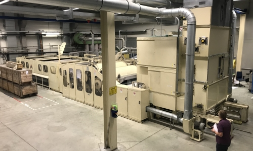second hand nonwoven line reinstalled in US